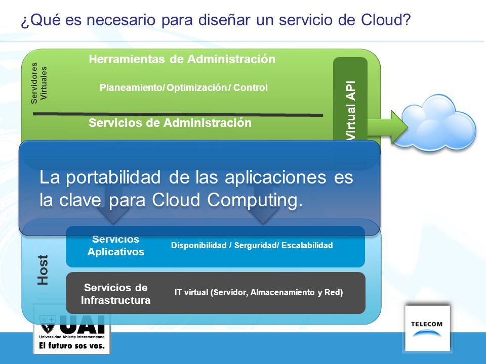¿Qué es necesario para diseñar un servicio de Cloud