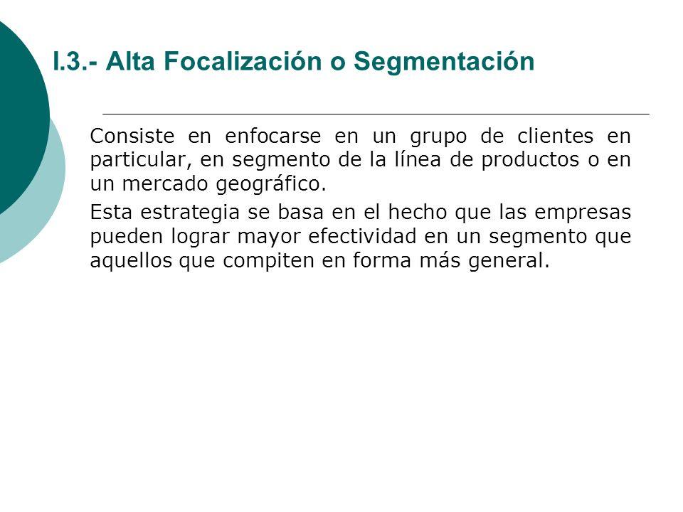 I.3.- Alta Focalización o Segmentación