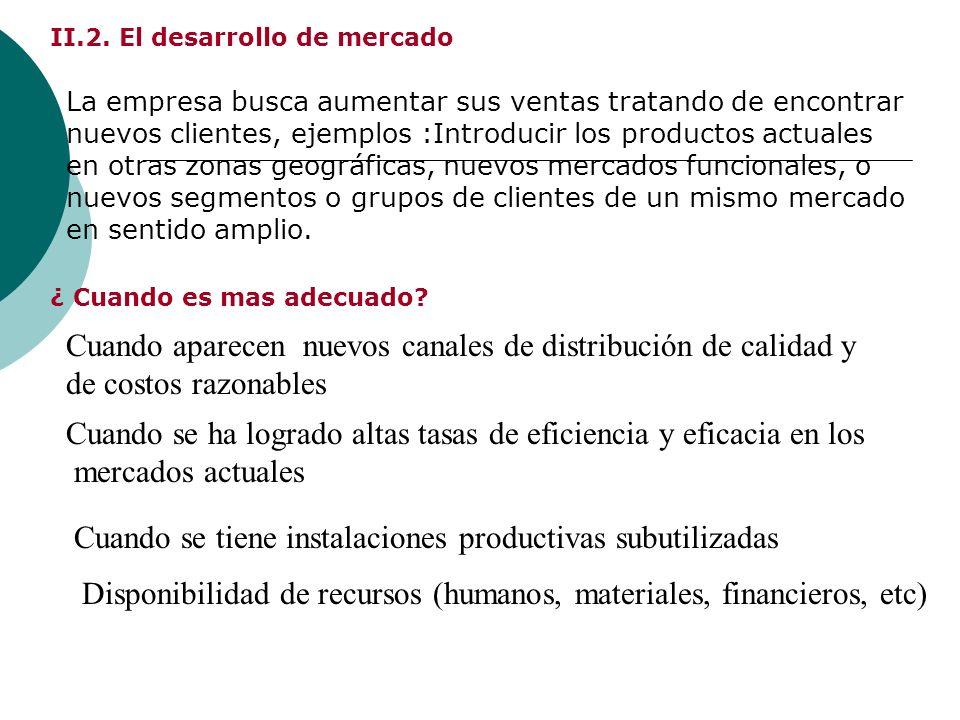 II.2. El desarrollo de mercado