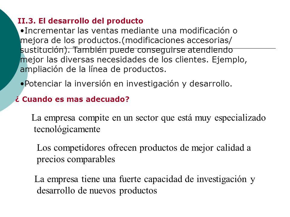 II.3. El desarrollo del producto