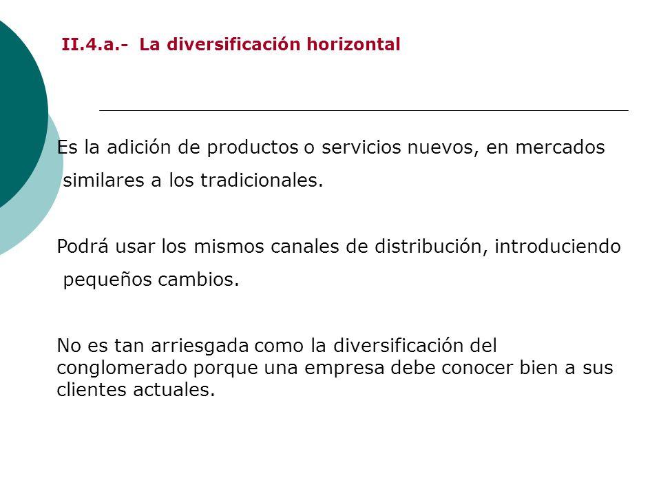 II.4.a.- La diversificación horizontal