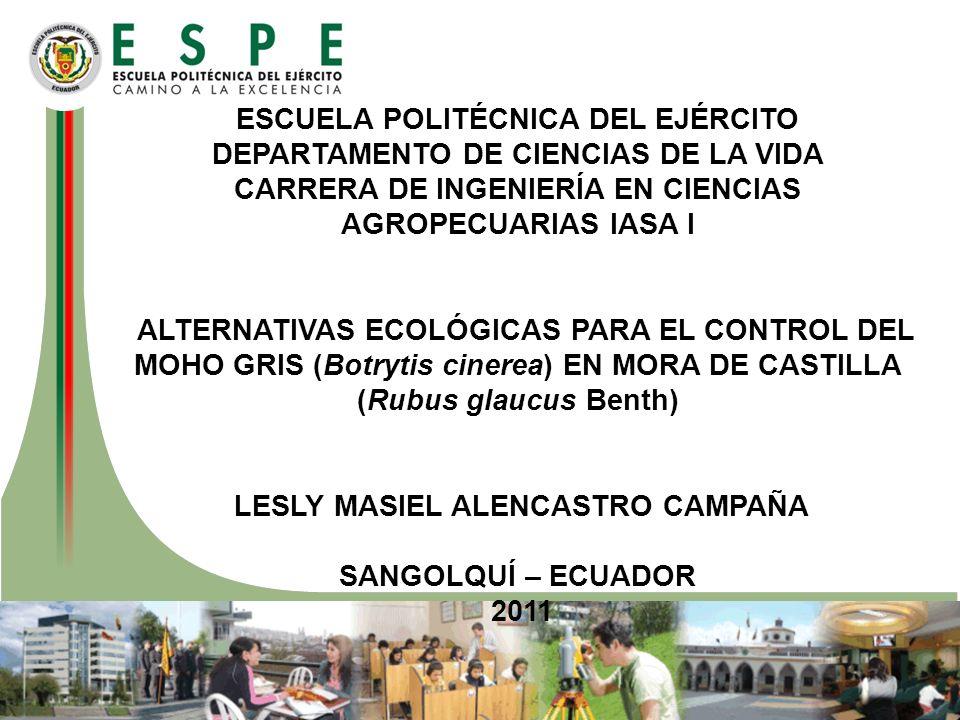 CARRERA DE INGENIERÍA EN CIENCIAS AGROPECUARIAS IASA I
