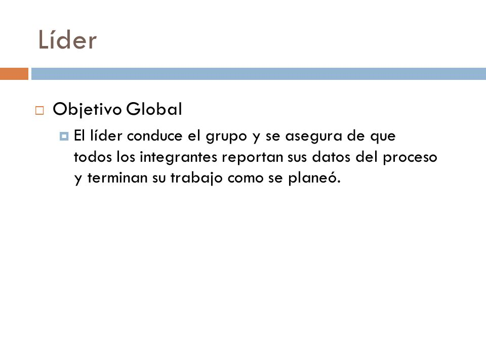 LíderObjetivo Global.