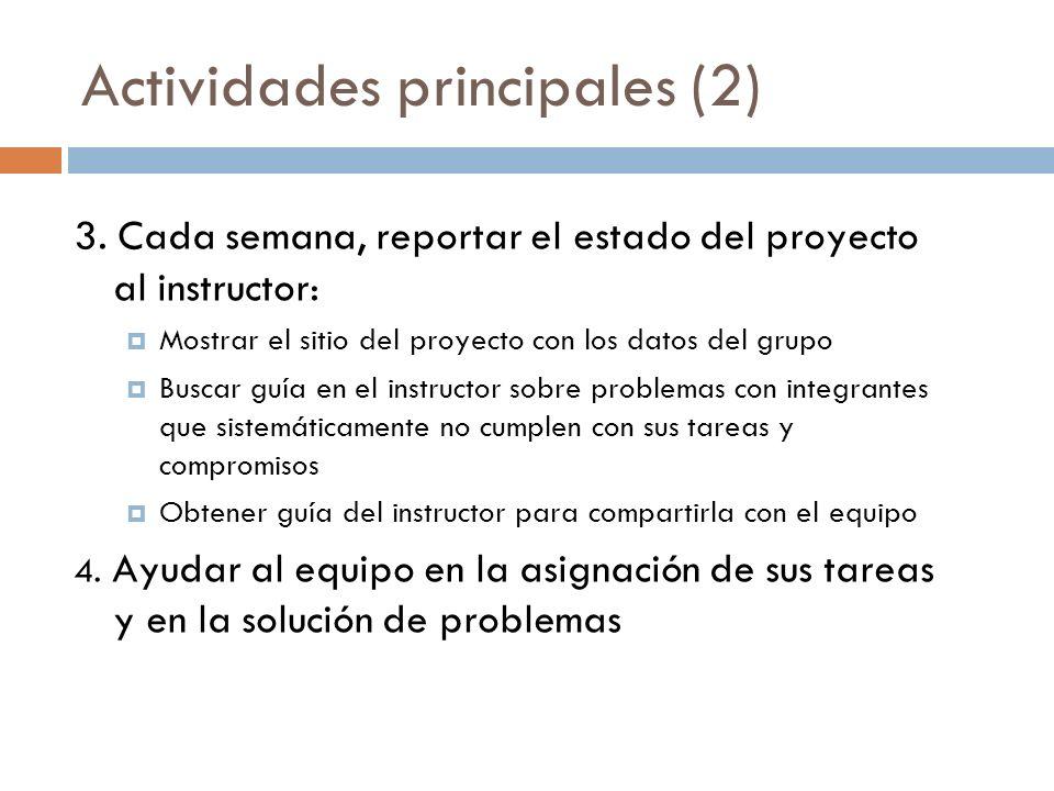 Actividades principales (2)