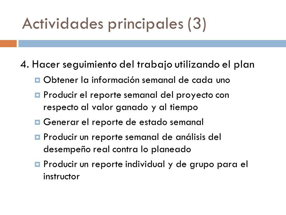 Actividades principales (3)