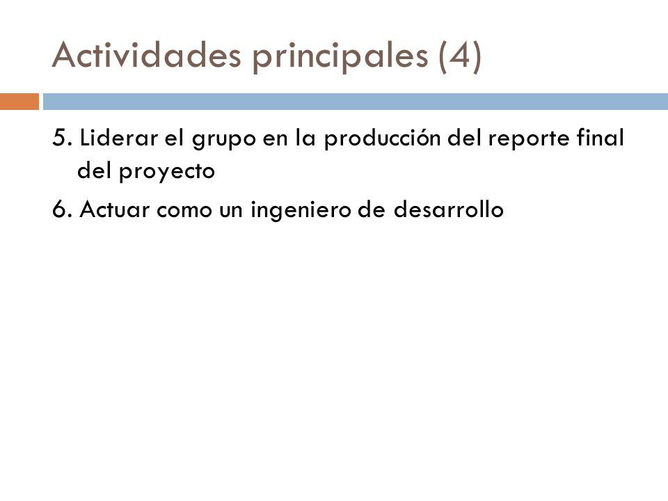 Actividades principales (4)