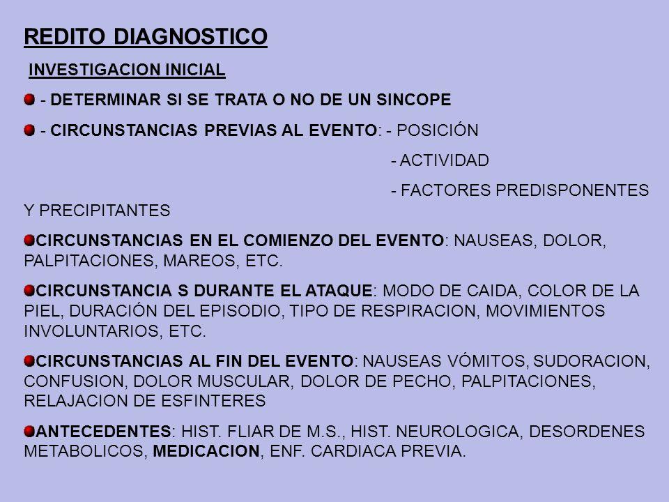 REDITO DIAGNOSTICO INVESTIGACION INICIAL