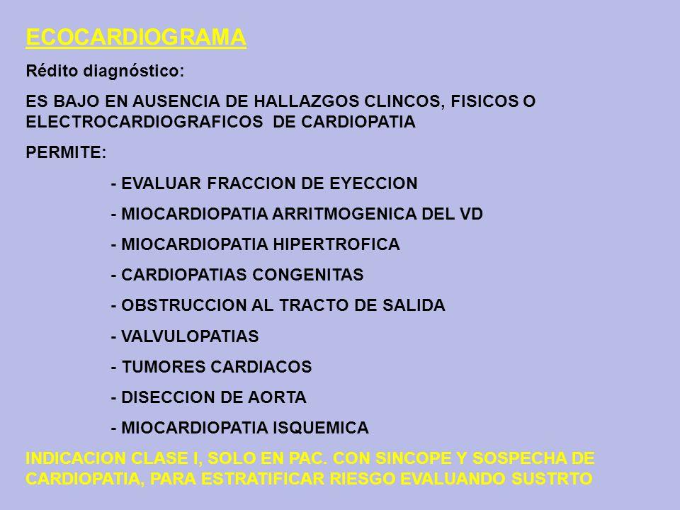 ECOCARDIOGRAMA Rédito diagnóstico: