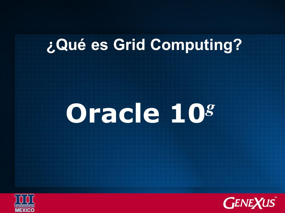 ¿Qué es Grid Computing Oracle 10g