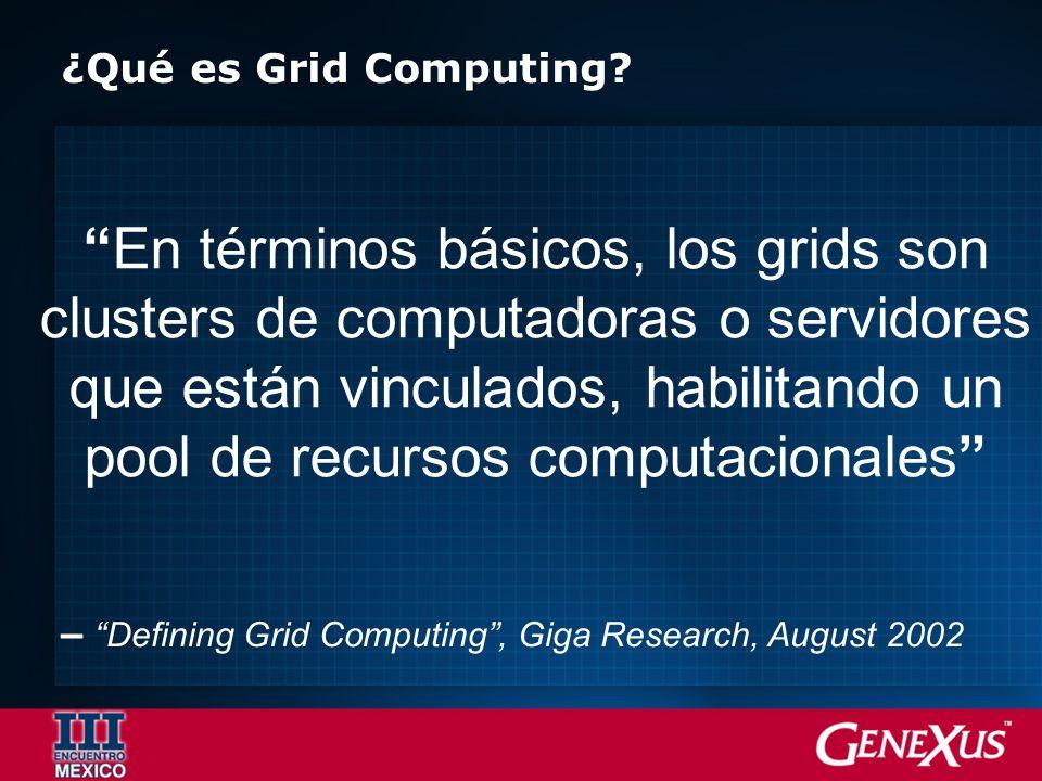 ¿Qué es Grid Computing