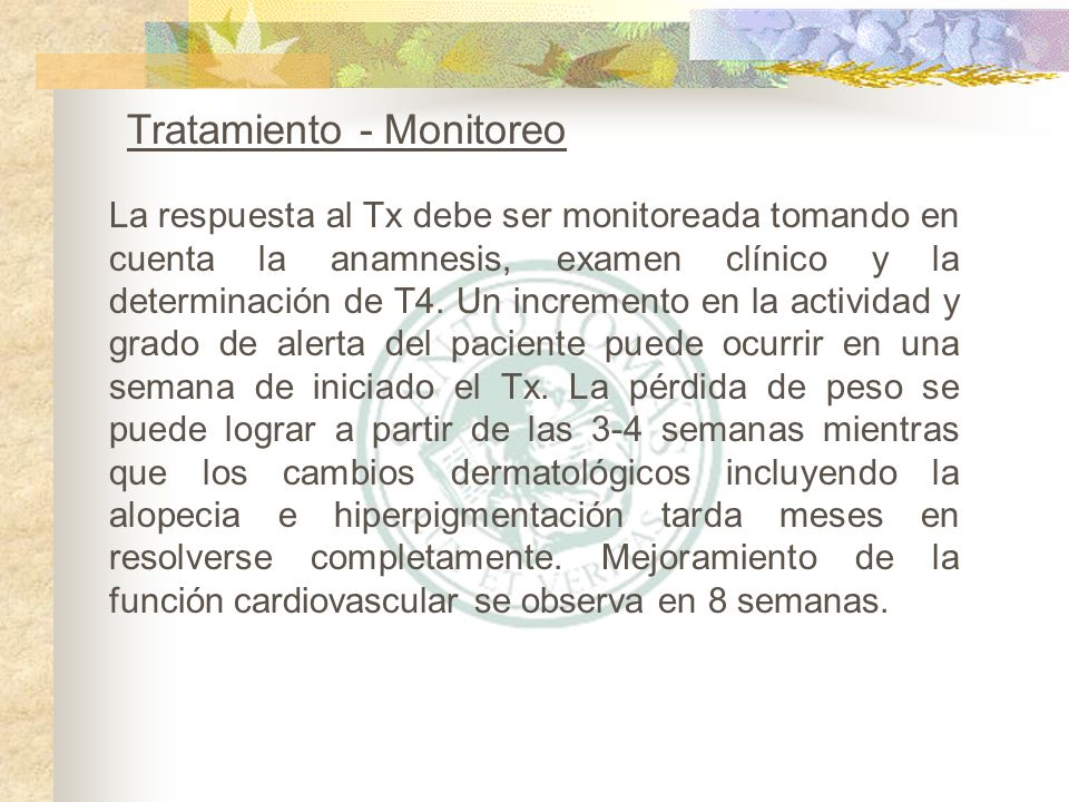 Tratamiento - Monitoreo
