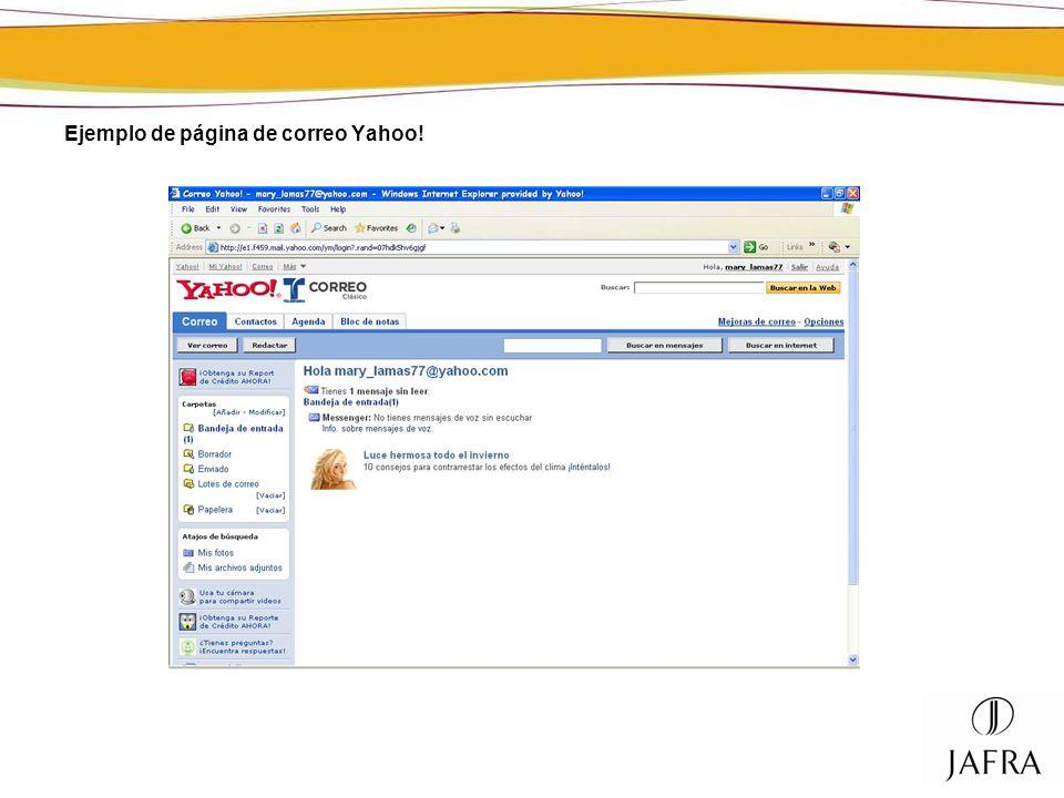 Ejemplo de página de correo Yahoo!