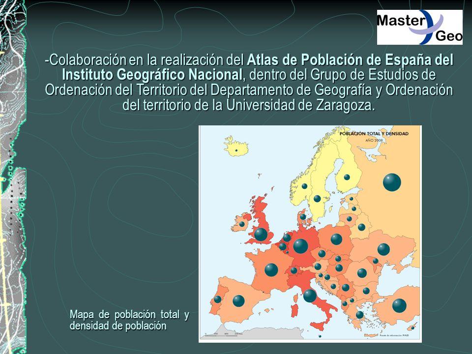 -Colaboración en la realización del Atlas de Población de España del Instituto Geográfico Nacional, dentro del Grupo de Estudios de Ordenación del Territorio del Departamento de Geografía y Ordenación del territorio de la Universidad de Zaragoza.
