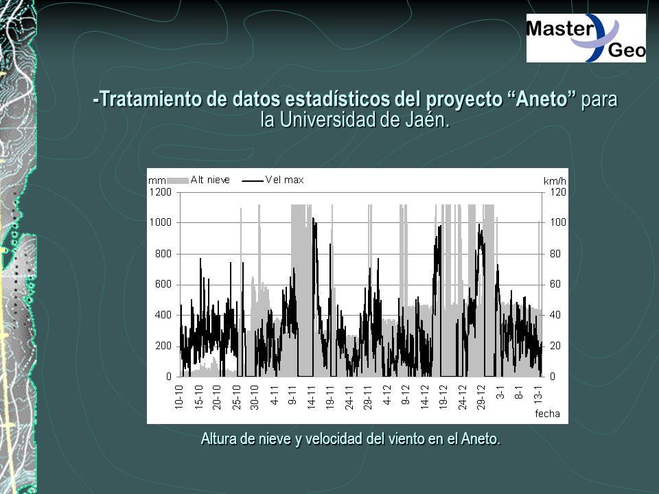 -Tratamiento de datos estadísticos del proyecto Aneto para la Universidad de Jaén.