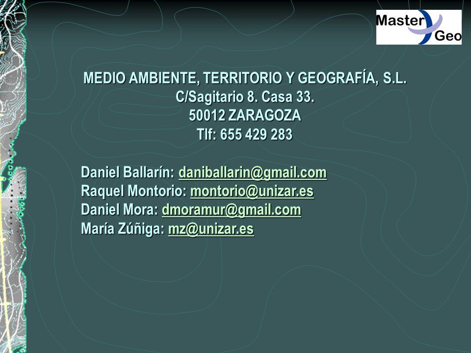 MEDIO AMBIENTE, TERRITORIO Y GEOGRAFÍA, S.L.