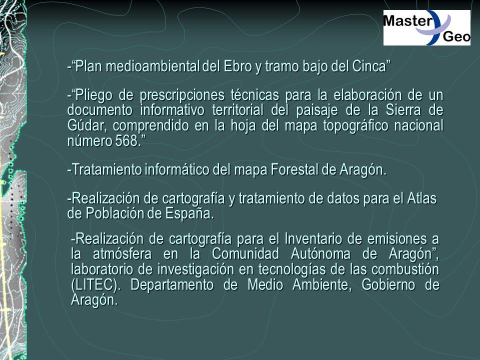 - Plan medioambiental del Ebro y tramo bajo del Cinca