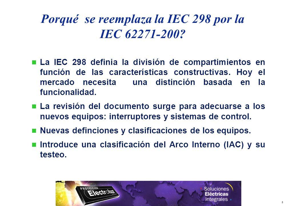 Porqué se reemplaza la IEC 298 por la IEC 62271-200