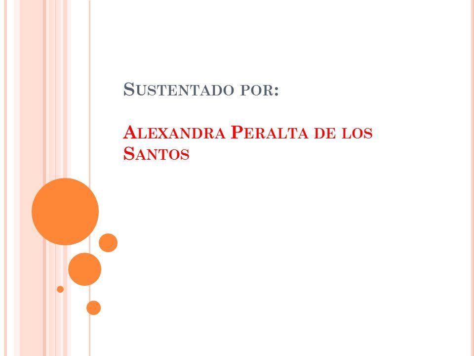 Sustentado por: Alexandra Peralta de los Santos