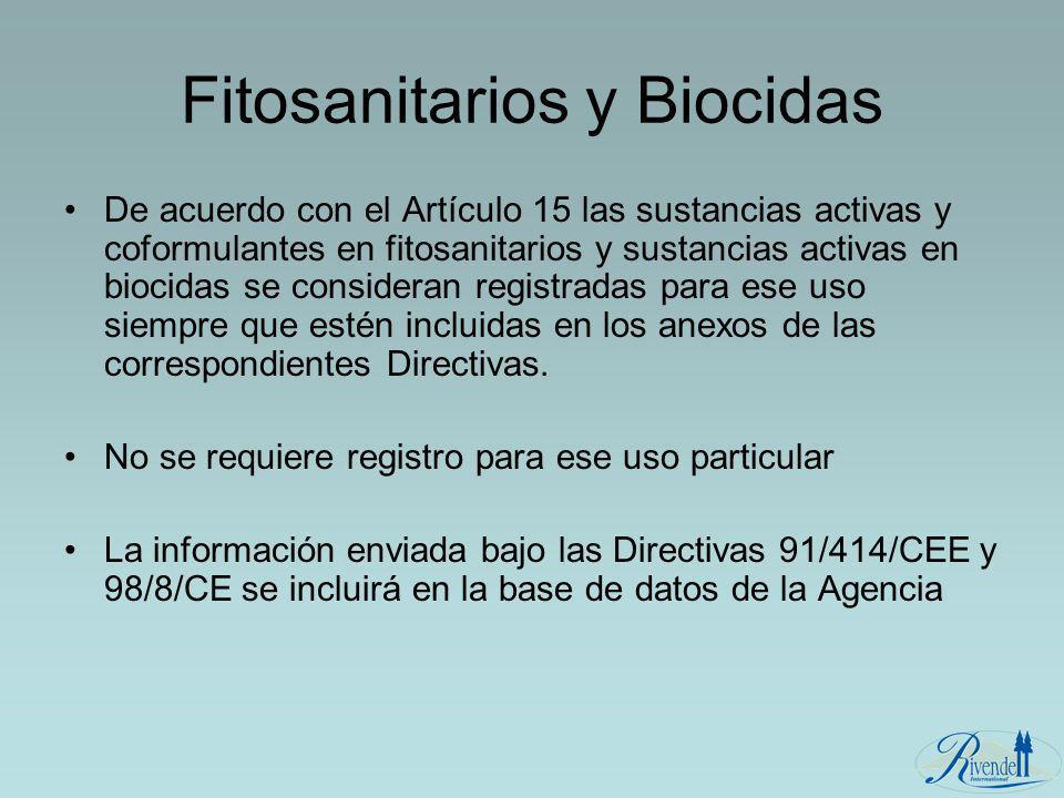 Fitosanitarios y Biocidas