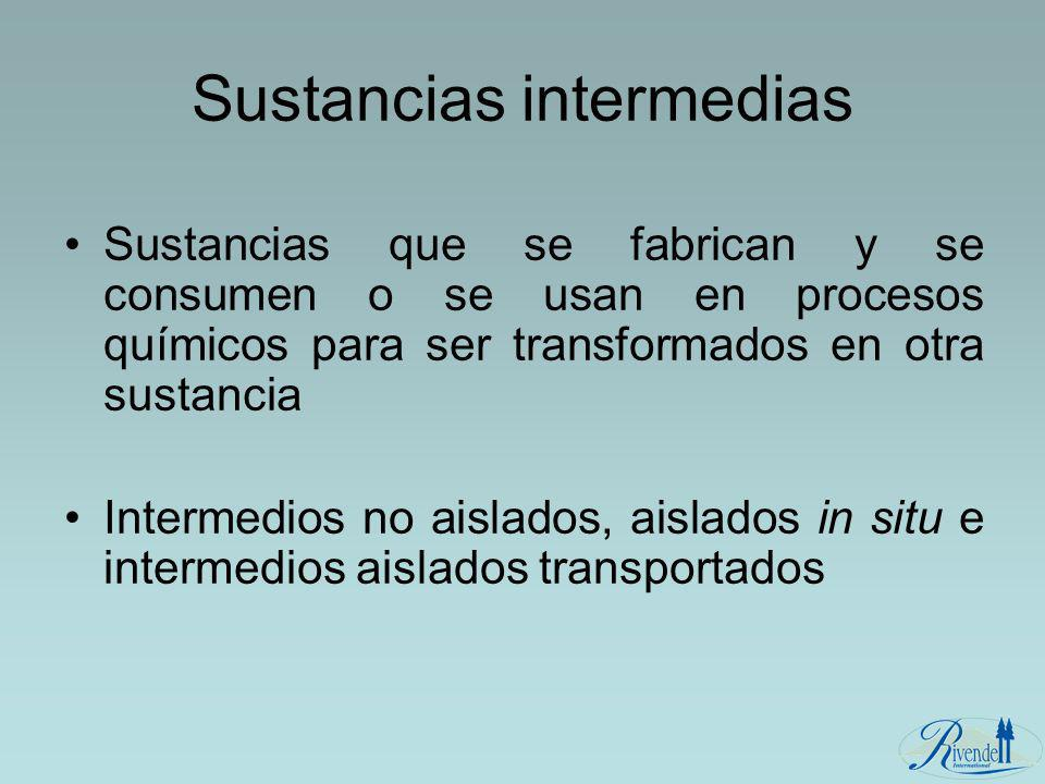 Sustancias intermedias