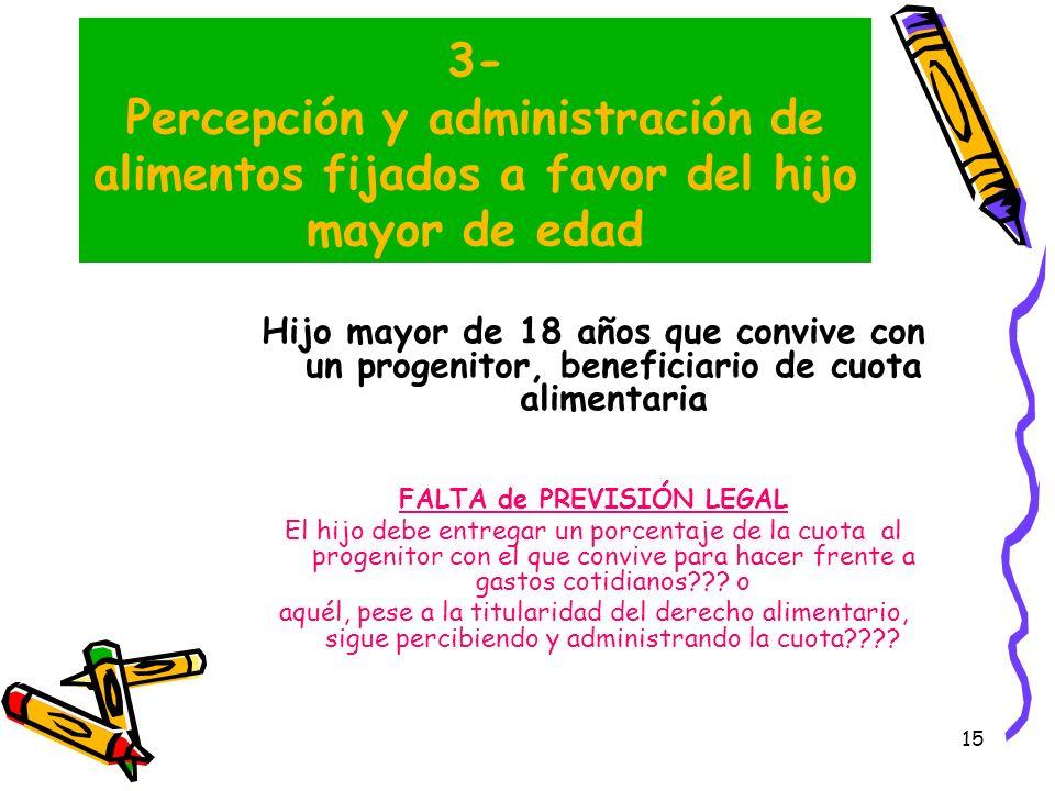 FALTA de PREVISIÓN LEGAL