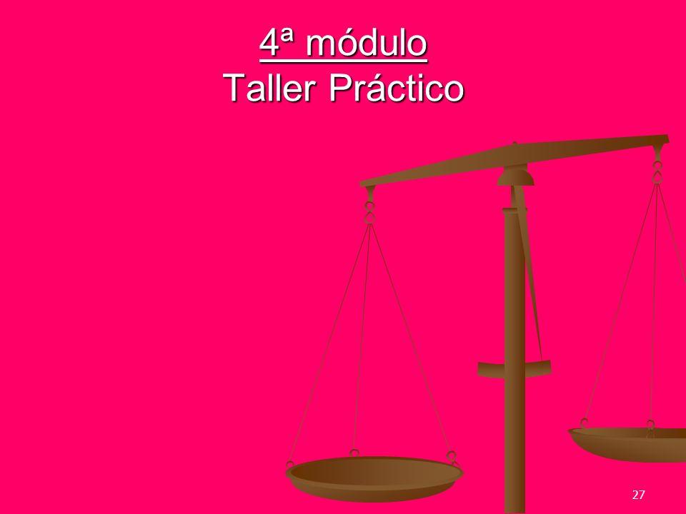 4ª módulo Taller Práctico