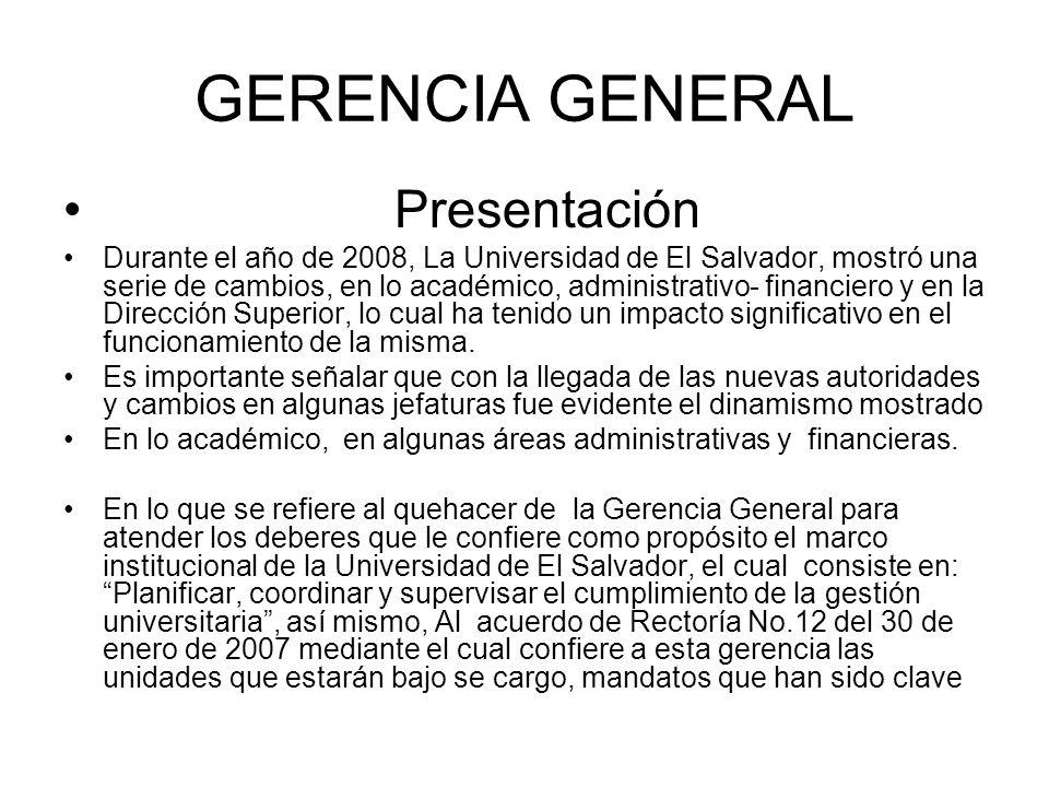 GERENCIA GENERAL Presentación