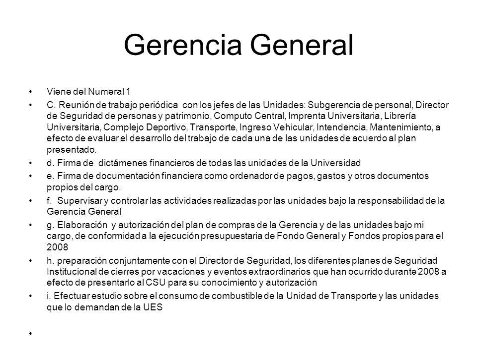 Gerencia General Viene del Numeral 1