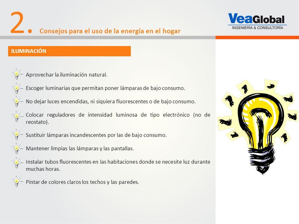 2. Consejos para el uso de la energía en el hogar ILUMINACIÓN