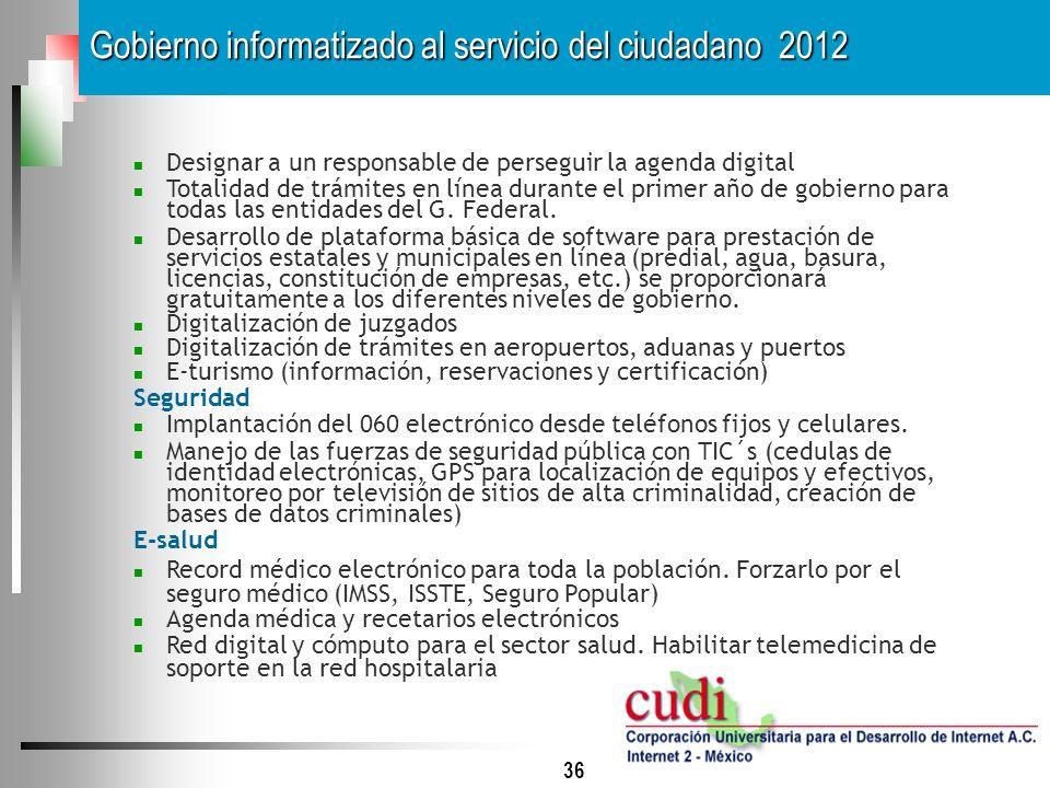 Gobierno informatizado al servicio del ciudadano 2012