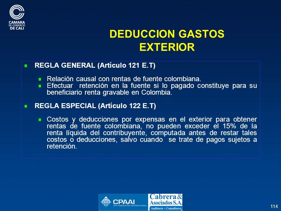 DEDUCCION GASTOS EXTERIOR