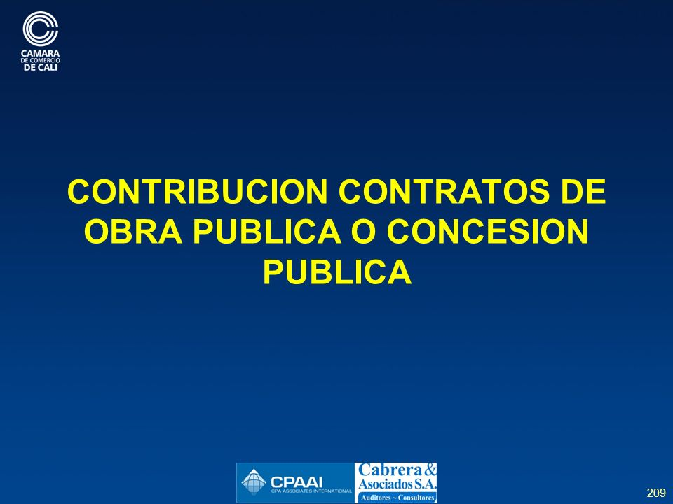 CONTRIBUCION CONTRATOS DE OBRA PUBLICA O CONCESION PUBLICA