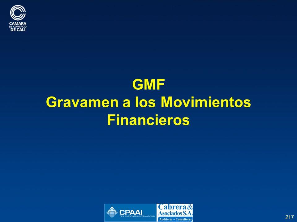 GMF Gravamen a los Movimientos Financieros