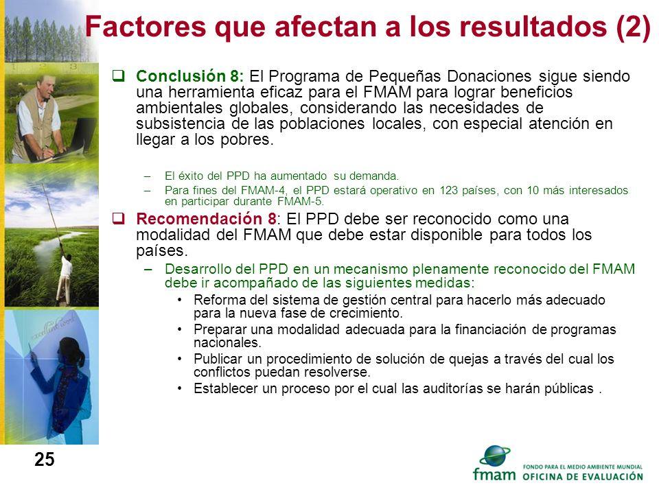 Factores que afectan a los resultados (2)