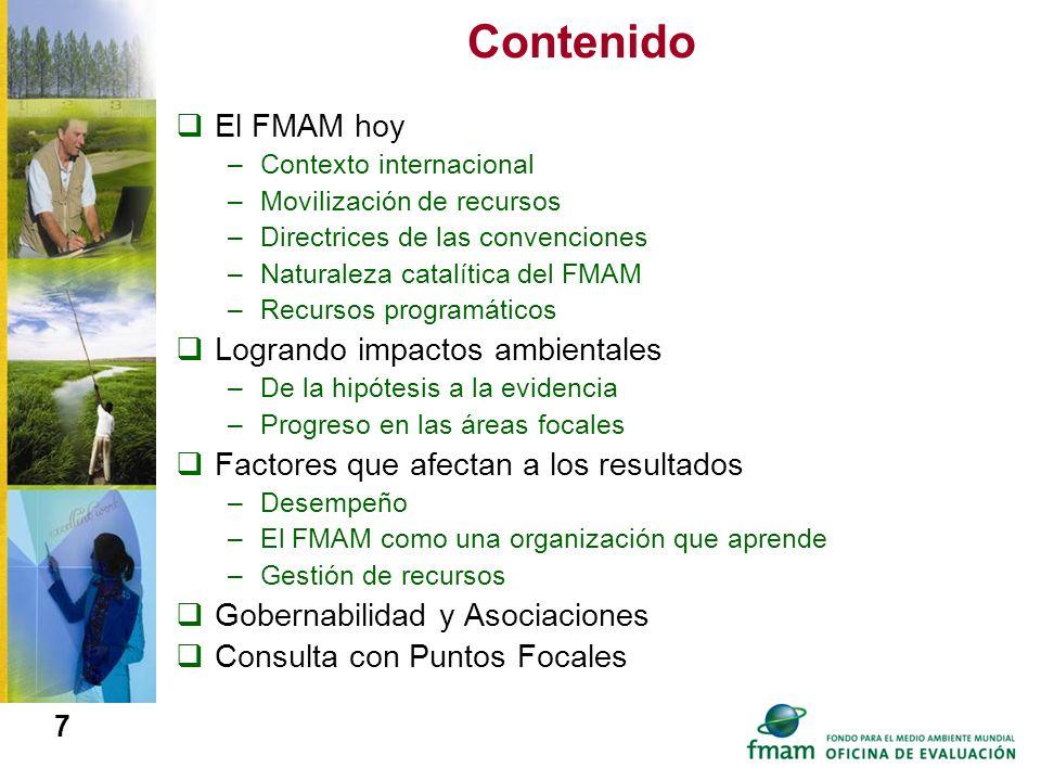 Contenido El FMAM hoy Logrando impactos ambientales