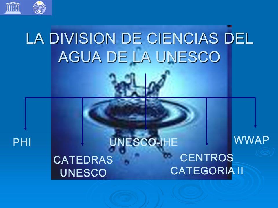 LA DIVISION DE CIENCIAS DEL AGUA DE LA UNESCO
