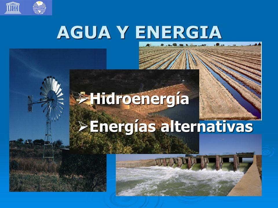 AGUA Y ENERGIA Hidroenergía Energías alternativas