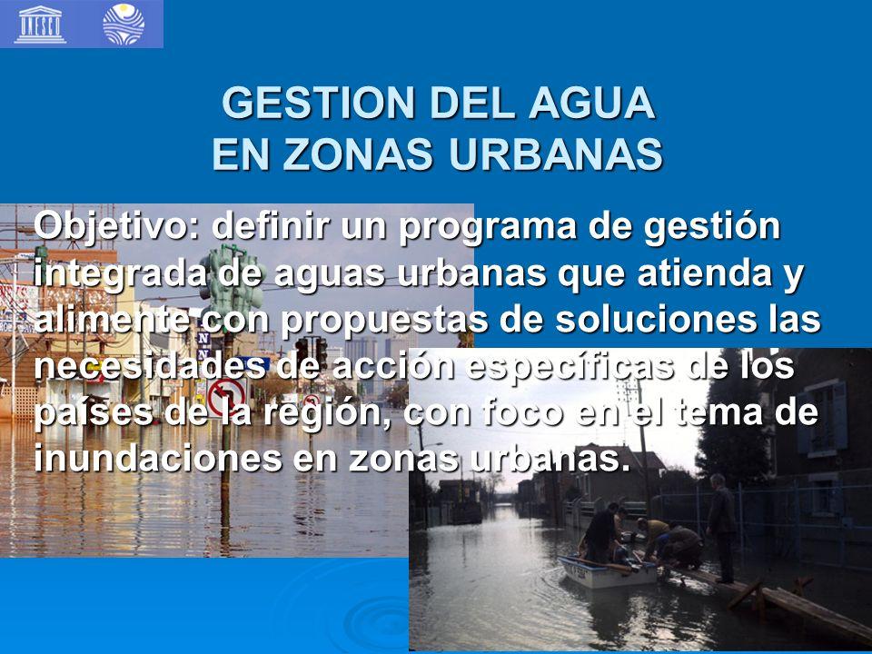 GESTION DEL AGUA EN ZONAS URBANAS