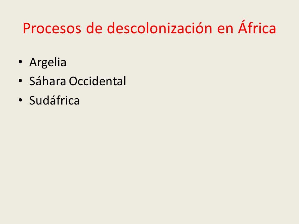 Procesos de descolonización en África