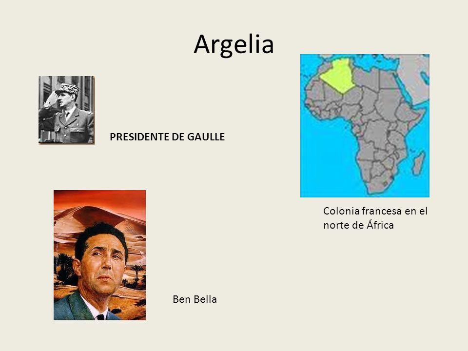 Argelia PRESIDENTE DE GAULLE Colonia francesa en el norte de África