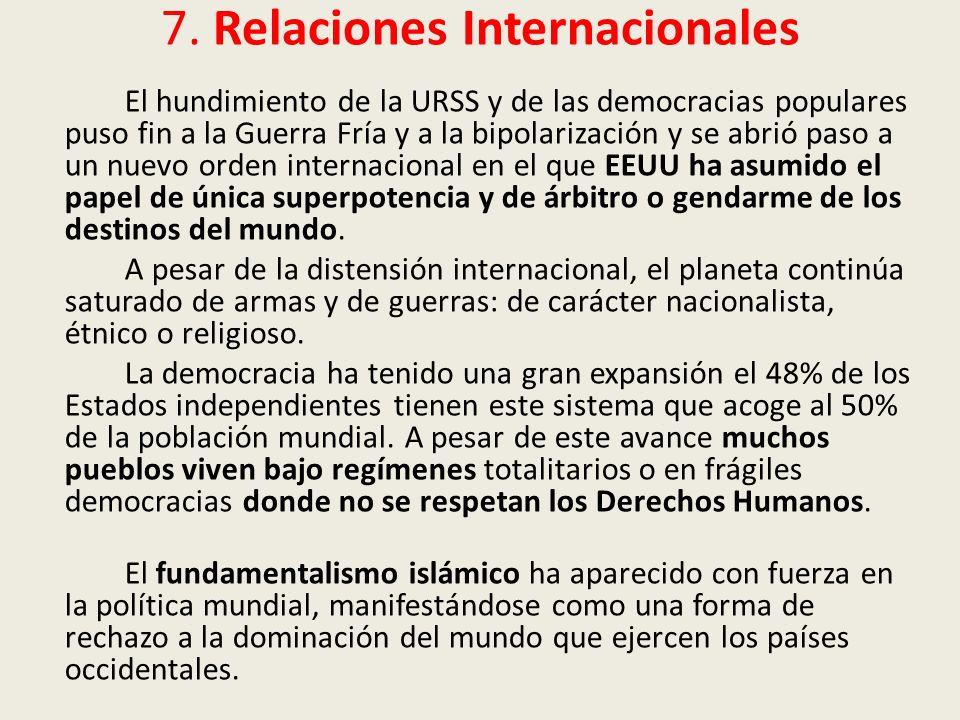 7. Relaciones Internacionales