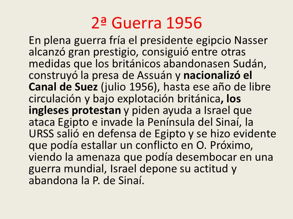 2ª Guerra 1956