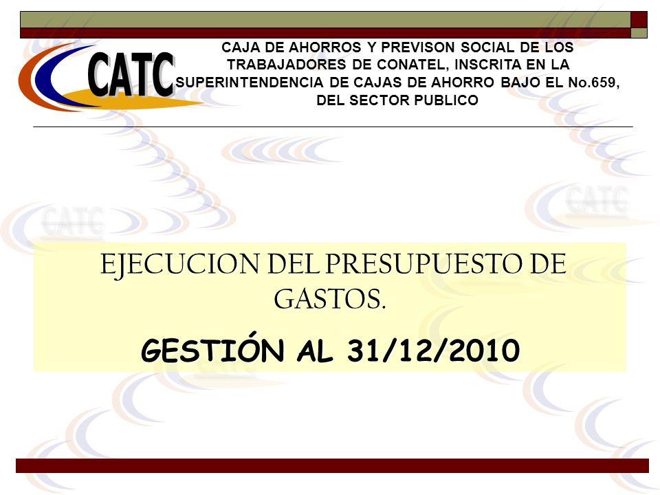 EJECUCION DEL PRESUPUESTO DE GASTOS.