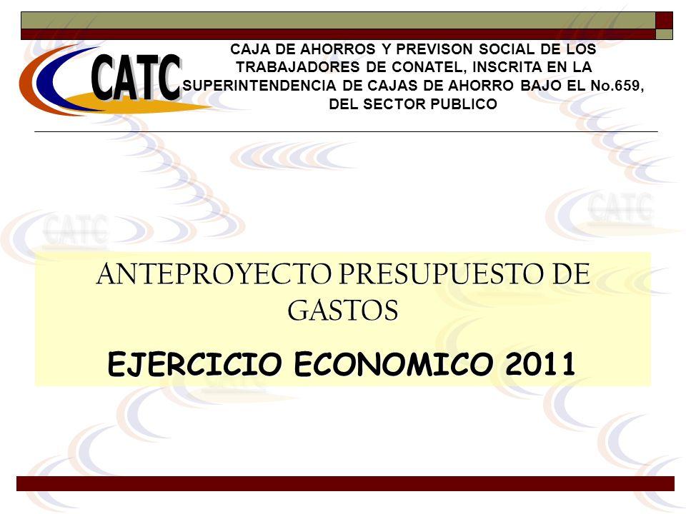 ANTEPROYECTO PRESUPUESTO DE GASTOS