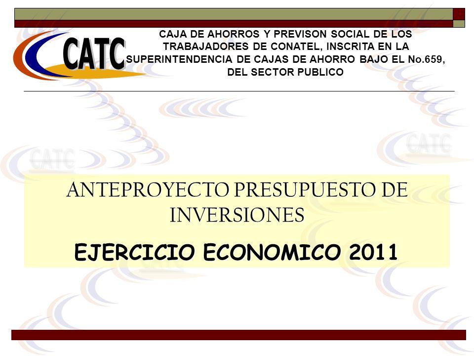 ANTEPROYECTO PRESUPUESTO DE INVERSIONES