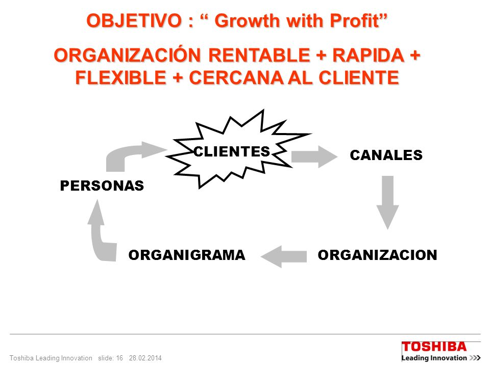 OBJETIVO : Growth with Profit