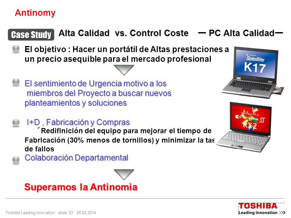 Alta Calidad vs. Control Coste ー PC Alta Calidadー
