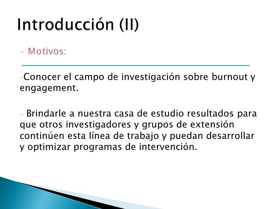 Introducción (II) Motivos: