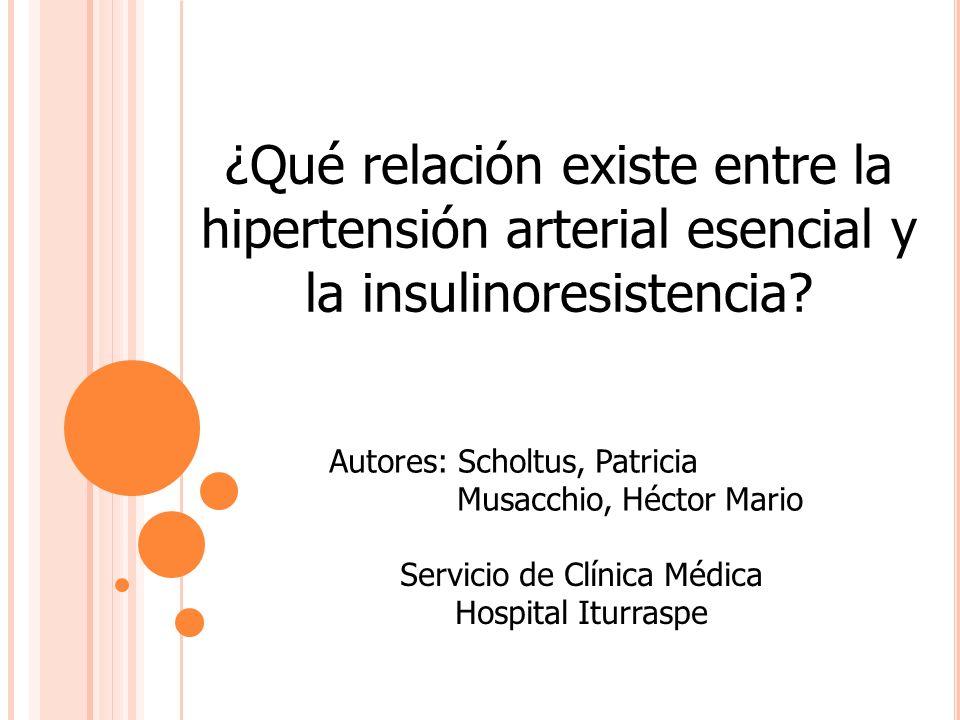 ¿Qué relación existe entre la hipertensión arterial esencial y la insulinoresistencia