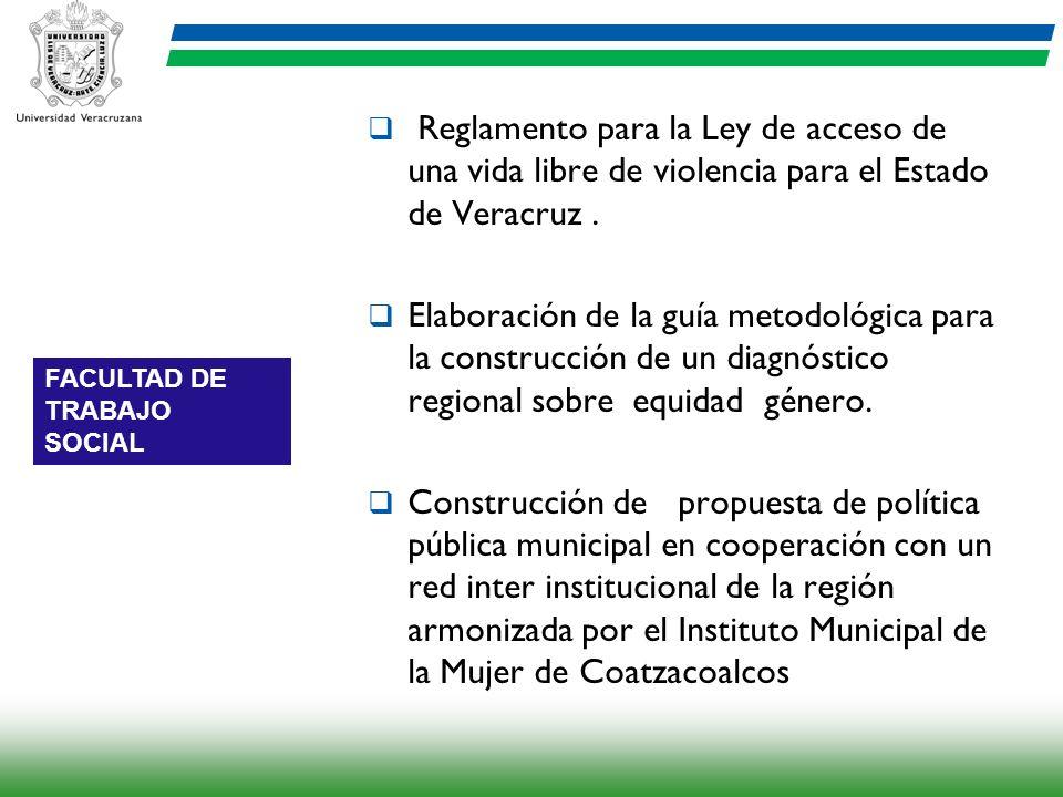 Reglamento para la Ley de acceso de una vida libre de violencia para el Estado de Veracruz .